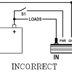 High Current Switch Incorrect Set-Up