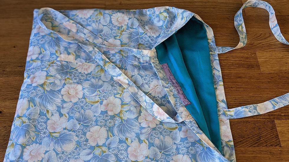 tote bag fleuri bleu