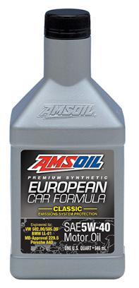 European Car Formula 5W40 Classic ESP Synthetic Motor Oil