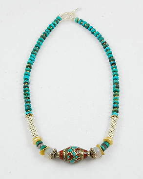 Inlay Tube Necklace