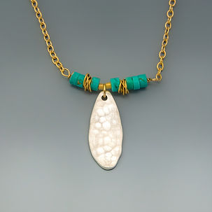 Hammered Silver with Turquoise