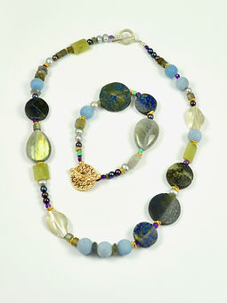 Lapis Disks Necklace and Bracelet_edited