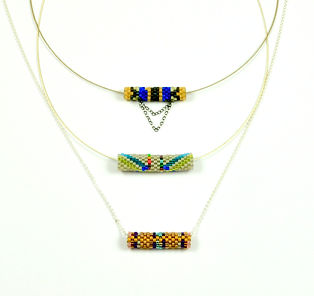 Handwoven Seed Bead Tube Necklaces_edite