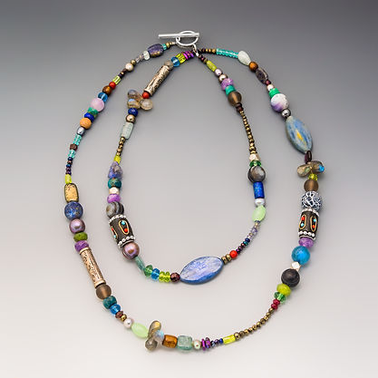 Long Multi-Stone Necklace
