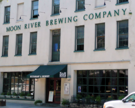 The Moon River Brewing Company, built in 182i by Elazer Early. It was originally the City Hotel