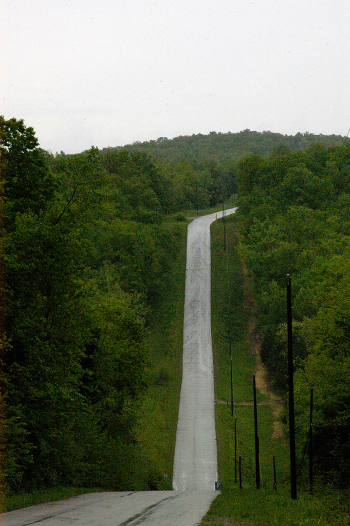 This freeway had been expanded to a 6 lane one at the time the events in this story took place, however, it clearly shows the steep grade. Driving up or down this section of the highway always gave me a strong dose of fear.