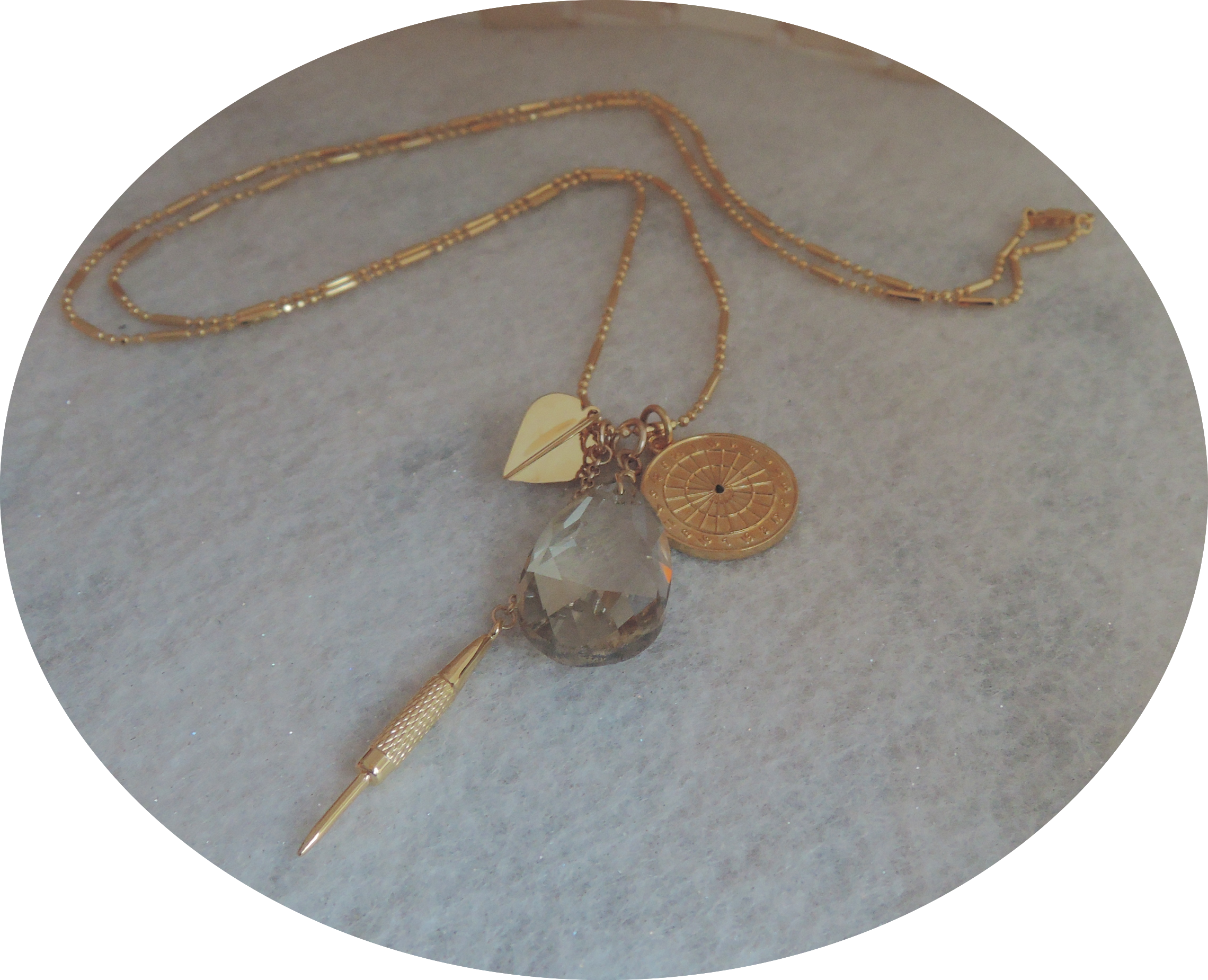 Gold Plated  30'' Multi Charm Dart P