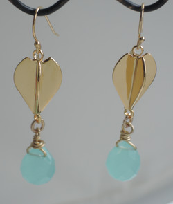 Tear drop earrings 1 3/4 '' long fro