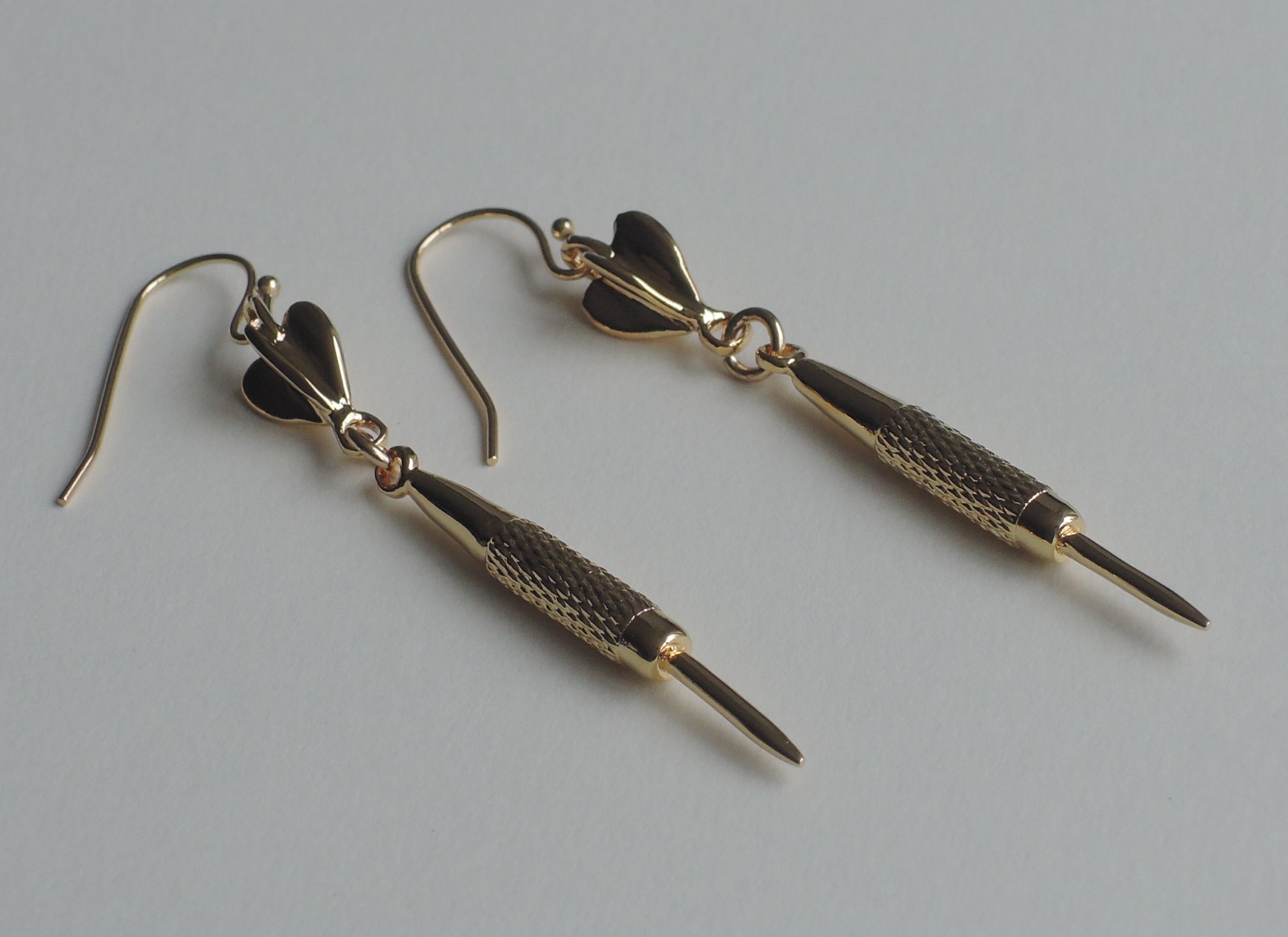 Dart drap earrings