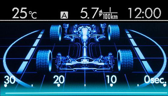 Multifunktionsdisplay i Subaru XV
