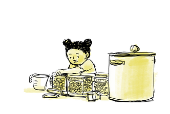 canning girl - blueberries for Sal .png