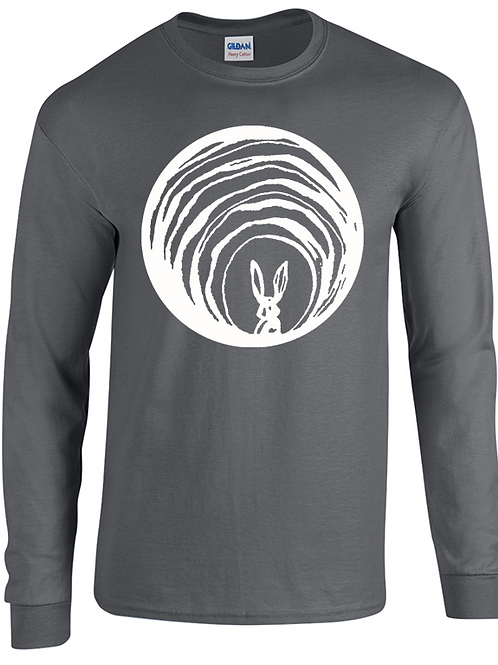 Adult Grey Logo T-shirt - Long Sleeve