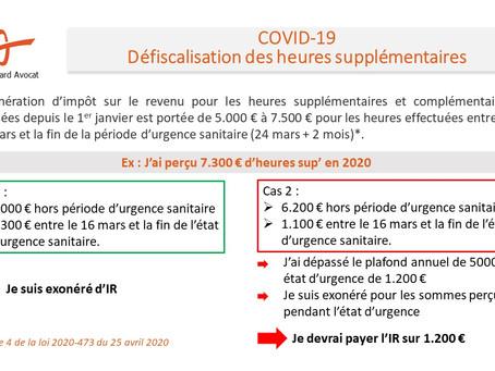 COVID-19 - Défiscalisation des heures supplémentaires