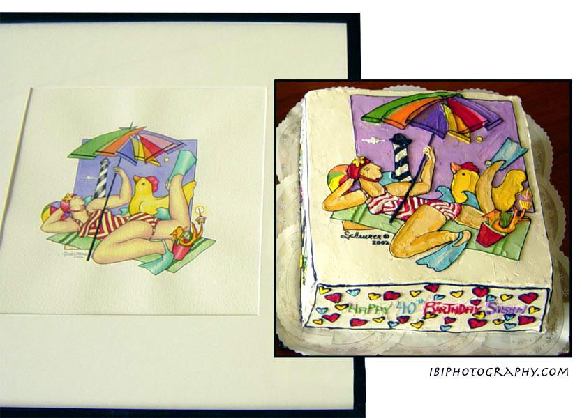 Match the artwork cake