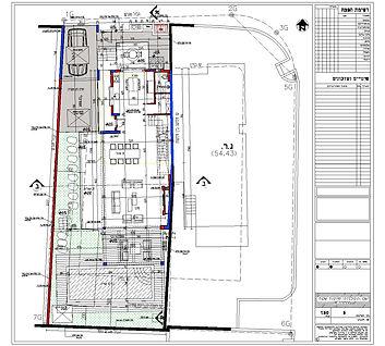 תכנית פיתוח שטח של בית פרטי לדוגמא