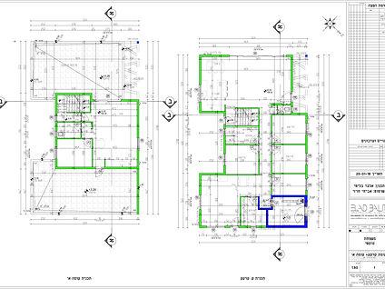 תכנית עבודה של בית פרטי לדוגמא