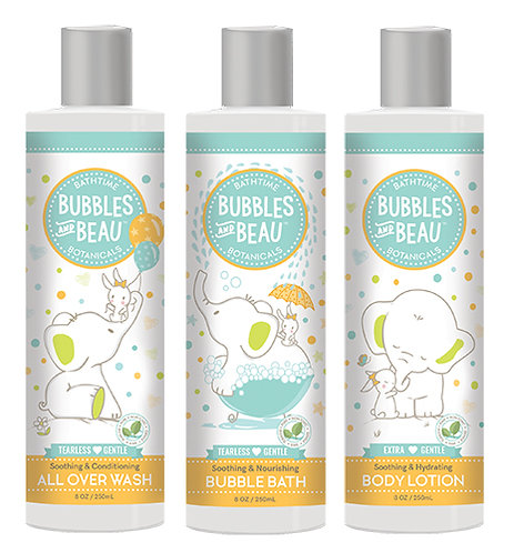 Bundle & Save -All Over Wash, Bubble Bath, Body Lotion