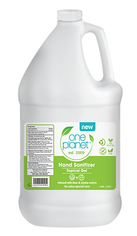 One Planet Moisturizing Hand Sanitizer Made in California | 1 GALLON (128 OZ)
