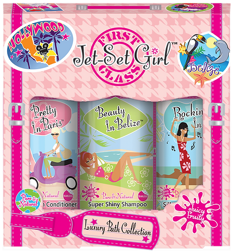 Jet-Set Girl Luxury Bath Collection Amenities