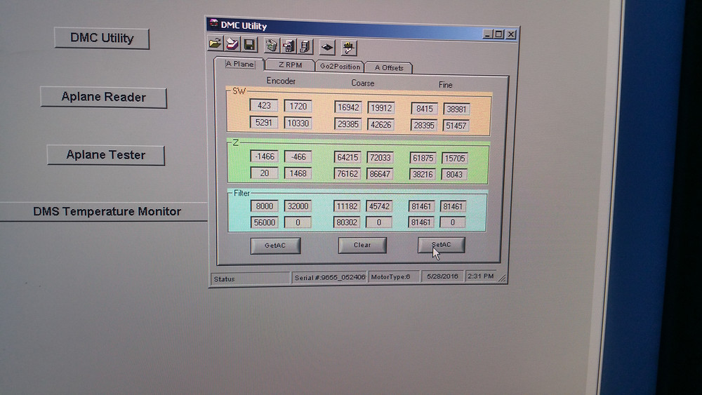 Calibration window, Must be able to calibrate it!
