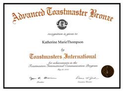 Toastmasters - Advanced Bronze