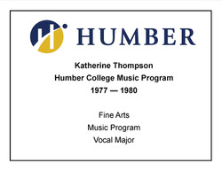 Humber College - Voice Major