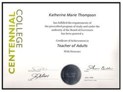 Certified Teacher of Adults