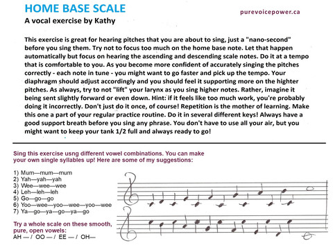 Kathy's HOME BASE Vocal Exercise