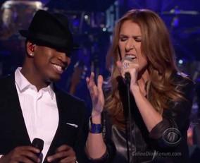 Celine Dion & Ne-Yo in the Recording Studio
