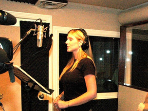 In the Recording Studio with Kathy's students
