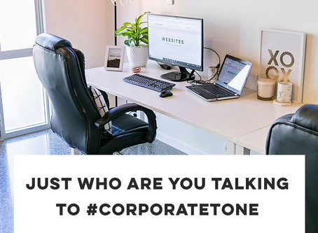 Just who are you talking to #corporatetone