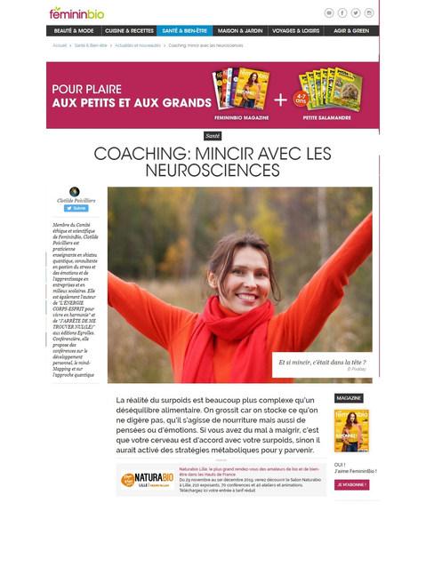 Coaching mincir avec les neurosciences femininbio