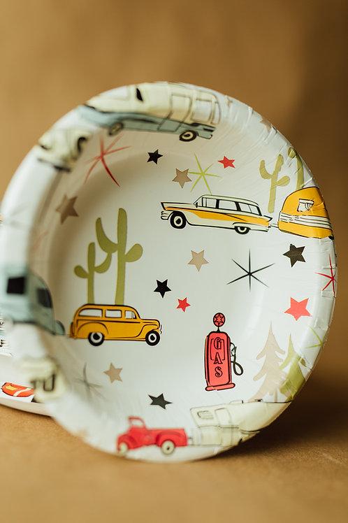 Road Trip Eco-Friendly 20 oz Paper Bowls - 24 count