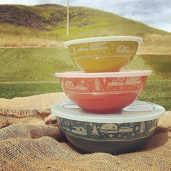 3-Piece Nesting Bowls with Lids Set