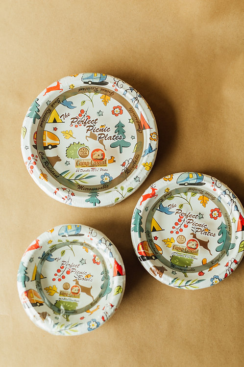"Into the Woods Eco-Friendly 10 1/16"" Paper Dinner Plates - 24 count"