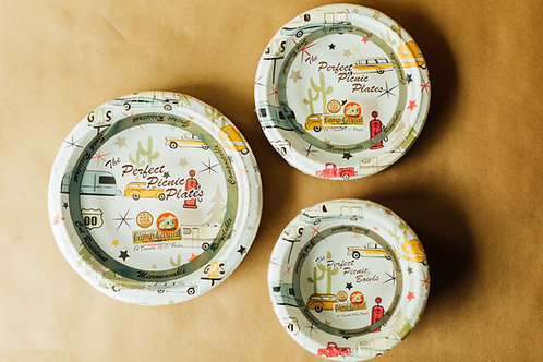 """Road Trip Eco-Friendly 10 1/16"""" Paper Dinner Plates - 24 count"""