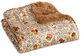 The Throw - Cozy Critters (Tan)