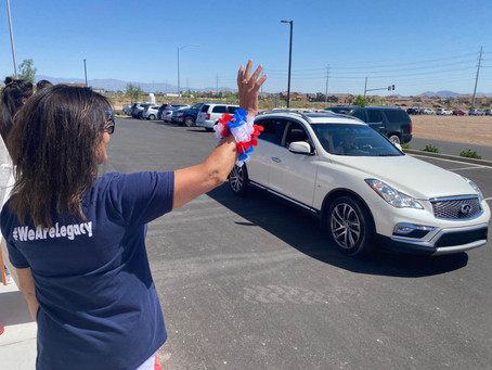 Students, parents decorate cars and participate in parade to show appreciation for teachers