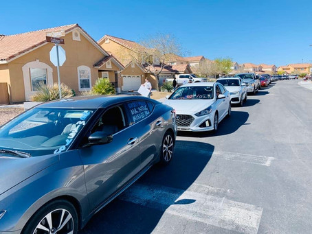 """""""We Miss You"""" Parade in Nellis AFB Family Housing"""