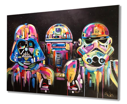 """""""THE FORCE"""".  SOLD  ORIGINAL ACRYLIC ON CANVAS. 36"""" X 48"""""""