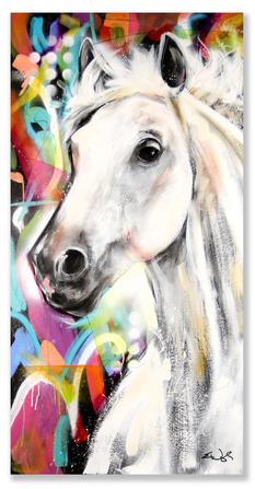"""POP HORSE""  AVAILABLE Original acrylic on wood panel.  24"" x 48"""