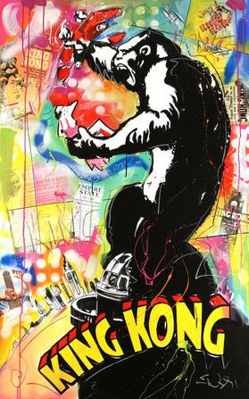 """KING KONG"" SOLD Original acrylic on canvas 30"" x 48"""