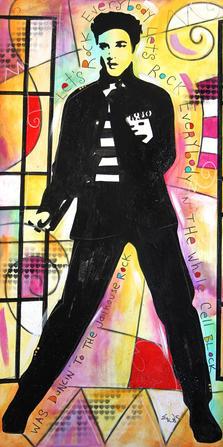 """JAIL HOUSE ROCK"" SOLD Original acrylic on canvas 30"" x 60"""