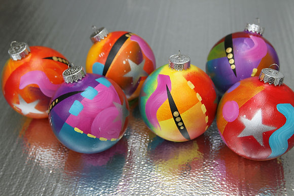 Hand painted Christmas Ornaments by Eric Waugh