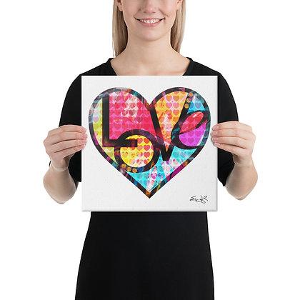 Canvas (GRAFFITI HEART LOVE) by Eric Waugh