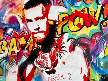 """""""CONOR McGREGOR"""". SOLD. Original acrylic on canvas 36"""" X 48"""""""