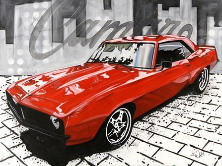 """1969 CAMARO"" SOLD Acrylic on canvas  30"" x 40"""