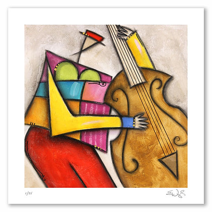 Red Hat Bass on Archival Paper