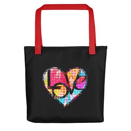 Tote bag (GRAFFITI HEART LOVE) by Eric Waugh