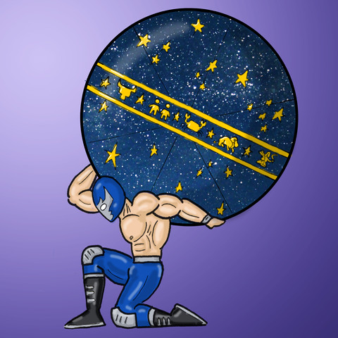 Luchador Holding the Heavens